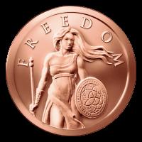 1 oz Kupfermedaille - Freiheit stehend - 2014