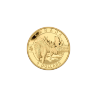 1/10 oz 2014 O Canada Series - Moose Gold Coin