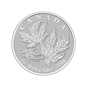 1/2 oz 2014 Canadian Maple Leaves Silver Proof Coin