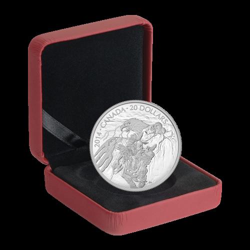 1 oz Silbermünze - Nanaboozhoo und das Nest des Donnervogels - 2014
