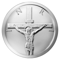 Disco in argento 2 oz 2014 Crocifissione