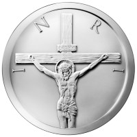 Ronde d'argent La Crucifixion 2014 de 5 onces