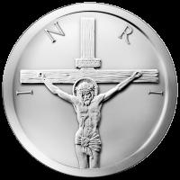 5 oz 2014 Crucifixion Silver Round