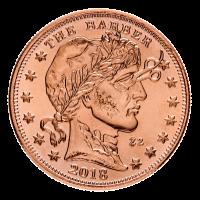 1 oz Kupfermedaille - der Barbier - Zombucks