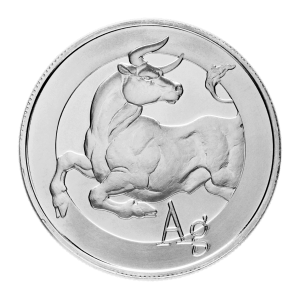 1 oz Silbermedaille Stier | Silver Shield 2014
