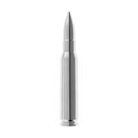 2 أوقية 308  (7.62 NATO) رصاصة فضية