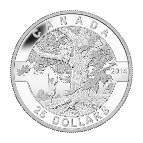 1 oz 2014 O Canada Series - Under the Maple Tree Silver Coin