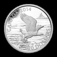 1 oz Silbermünze - Weißkopfadler - 2014