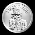 1 oz 2014 Slave-onkel sølvround