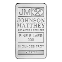 Barra de Plata Johnson Matthey de 10 oz