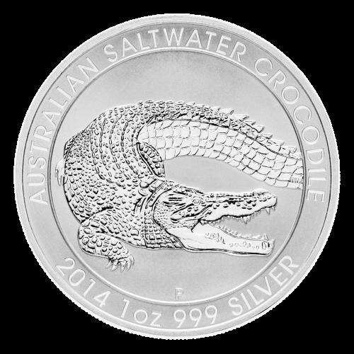 1 oz 2014 Australian Saltwater Crocodile Silver Coin