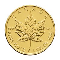 Moneta in oro 1 oz 2010 Canada Maple Leaf (foglia d'acero)