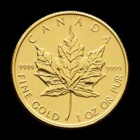 1 oz kanadische Goldmünze - Ahornblatt - 2010