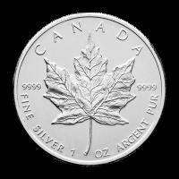 1 oz kanadische Silbermünze - Ahornblatt - 2010