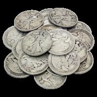 $10 Silbermünzen in einem Beutel, U.S. Umlauf 90% reines Silber