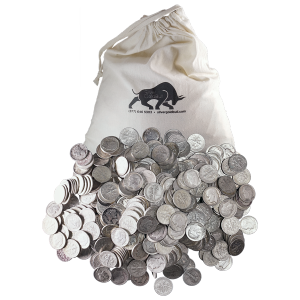 $250 Face Value Bag of U.S. Circulation 90% Pure Silver Coins