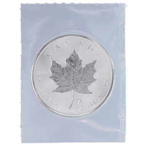 1 oz 2014 Canadian Maple Leaf Flex Forseglet Sølvmynt