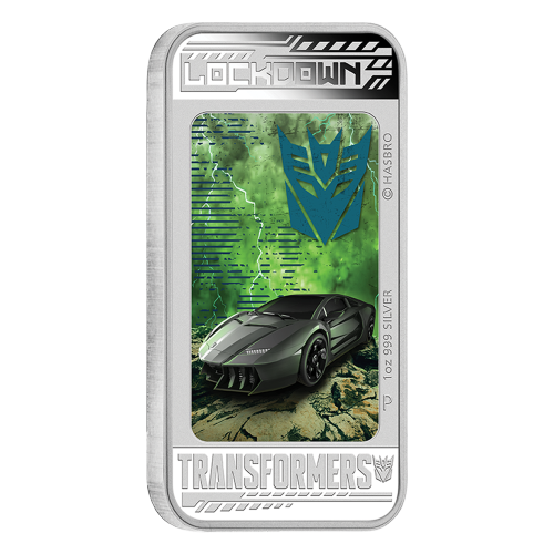 1 oz Silbermünze - Transformers: Age of Extinction - Lockdown 2014 limitiert
