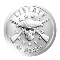 1 oz 2014 Liberty or Death Silver Round