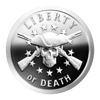 1 oz 2014 Liberty or Death ZIlveren Proof-like Plak