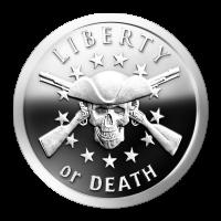 1 oz Silbermedaille - Freiheit oder Tod - 2014 - Zustand: Spiegelglanz