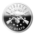 1 oz 2014 Liberty of Death proof-aktig sølvround
