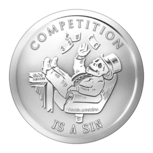 1 oz 2014 Competition is a Sin | Bankansatt-serien sølvround