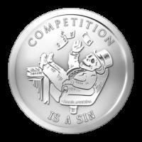 1 oz Silbermedaille - Wettbewerb ist eine Sünde | Bankster (Banknove) Serie