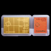 1 oz (10 x 1/10 Unze) Gold Kombinationsbarren von Valcambi