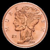 1 oz Kupfermedaille - Murk Diem (dunkler Tag) - Zombucks