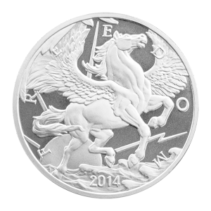 1 oz 2014 Pegasus Silver Round