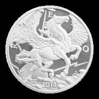 1 oz 2014 Pegasus Zilveren Plak