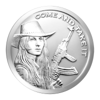 1 oz Silbermedaille -  Come and Take It (Komm her und nimm es dir) - 2014