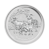 1/2oz 2015 Lunar Year of the Goat Silver Coin