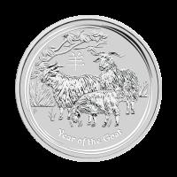 1/2 oz Silbermünze Mondserie Jahr der Ziege 2015