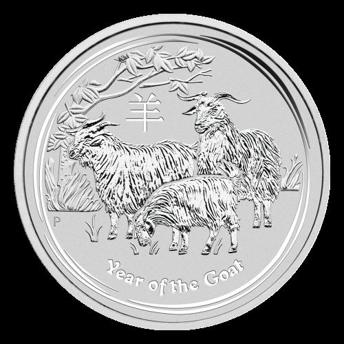 """Bildnis der Königin Elisabeth II. mit den Worten """"Elizabeth II Australia 1 Dollar 1 oz 999 Silver 2015"""""""