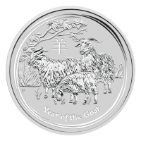 1oz 2015 Lunar Year of the Goat Silver Coin