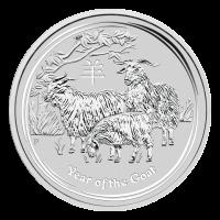 1 oz Silbermünze Mondserie Jahr der Ziege 2015