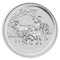 2 oz 2015 Lunar Year of the Goat Sølvmynt