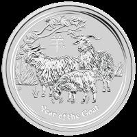 5 oz Silbermünze Mondserie Jahr der Ziege 2015