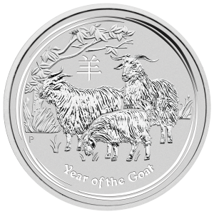 10 oz 2015 Lunar Year of the Goat Silver Coin