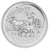 Pièce d'argent Année lunaire de la chèvre 2015 de 10 onces