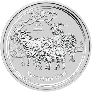 1 kg | kilo 2015 Perth Mint Lunar Year of the Goat Silver Coin