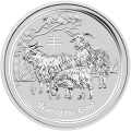 1 kg | kilo 2015 Lunar Year of the Goat Silver Coin