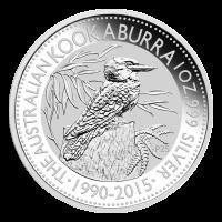 1 oz Silbermünze - australischer Kookaburra - 2015