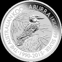 1 kg | Kilo Silbermünze australischer Kookaburra 2015