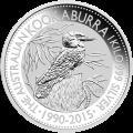 1كغ | كيلوغرام 2015 من العملات الفضية الخاصة بطائر الكوكابورا الأسترالي
