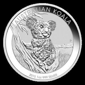 Pièce d'argent Koala australien 2015 de 1 once