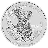 10 oz 2015 Australian Koala Zilveren Munt