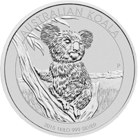 1 kg australische Silbermünze - Koala - 2015